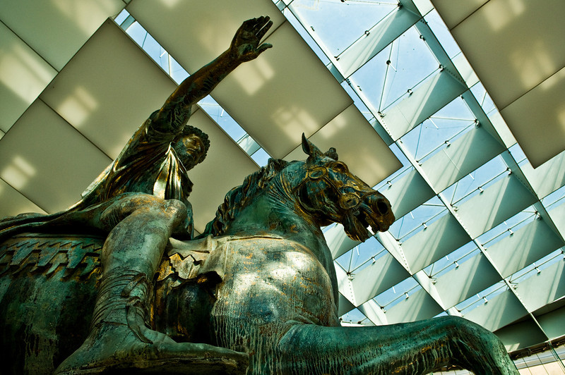 Title: Imperator<br /> Date: September 2011<br /> Statue of Emperor Marcus Aurelius in the Capitoline Museum in Rome.