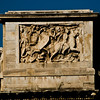 Title: To the Side<br /> Date: October 2011<br /> Detail on the Arch of Constantine in Rome.  Taken from the upper level of the Coliseum.