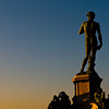 Title: Bronze David at Sunset<br /> Date: October 2011<br /> Florence