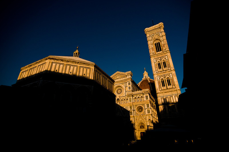 Title: Shadows and Sunsets<br /> Date: October 2011<br /> The Duomo of Florence at sunset.