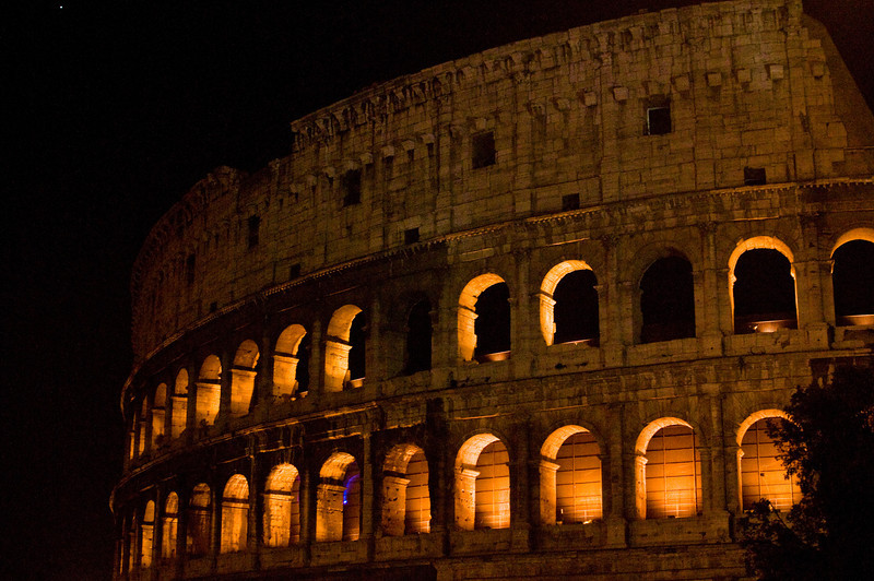 Title: Arches in the Night<br /> Date: September 2011<br /> Rome