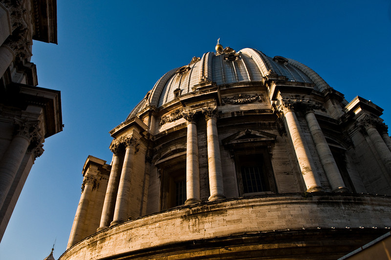 Title: Great Dome of the Vatican<br /> Date: October 2011<br /> The dome of Saint Peter's Basilica.