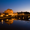 Title: Angels Reflections in the Tiber<br /> Date: October 2011<br /> Castel Sant'Angelo overlooking the Tiber River.