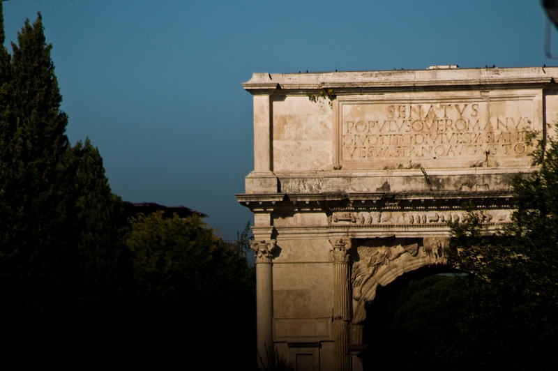 Title: Flavian Arch<br /> Date: October 2011<br /> The Arch of Titus.