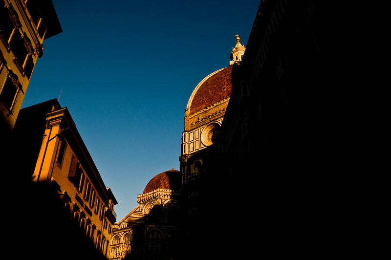 Title: Shadows and Light<br /> Date: October 2011<br /> The Duomo of Florence at sunset.