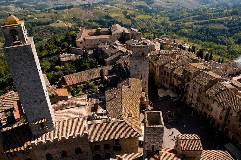 Title: The Town Below<br /> Date: October 2011<br /> San Gimignano, Tuscany