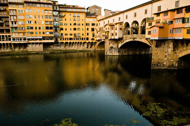 Title: Reflections of the Bridge<br /> Date: October 2011<br /> Florence