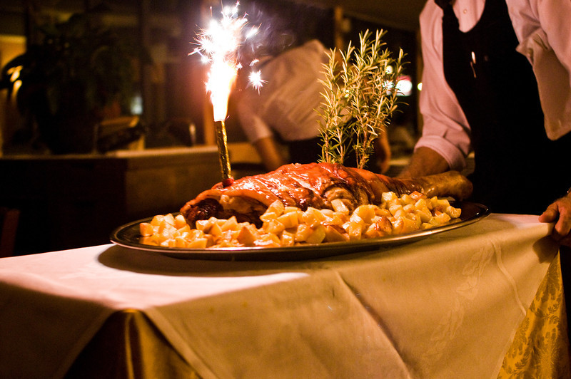 Title: Pork Course<br /> Date: October 2011<br /> At the Tuscan feast outside of Florence.