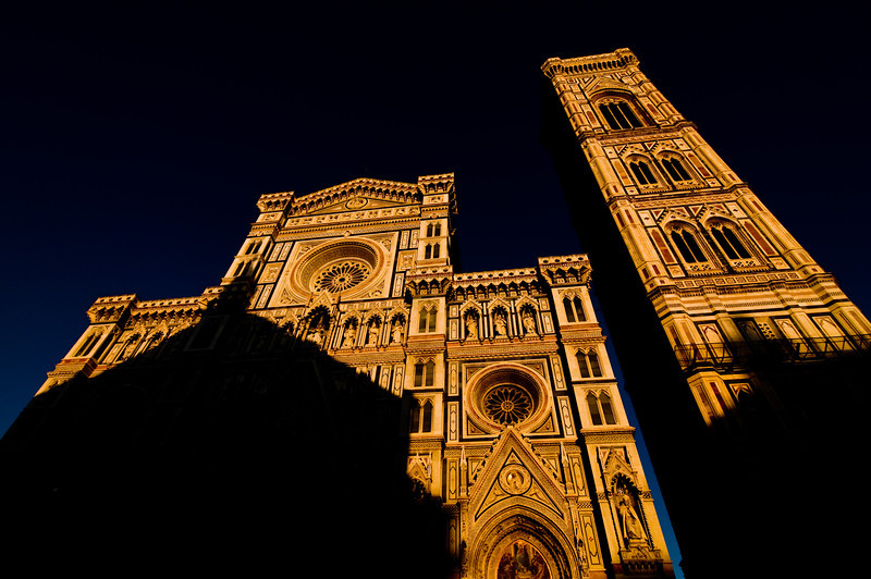 Title: Cathedral of Santa Maria de Fiore<br /> Date: October 2011<br /> The Duomo of Florence at sunset.