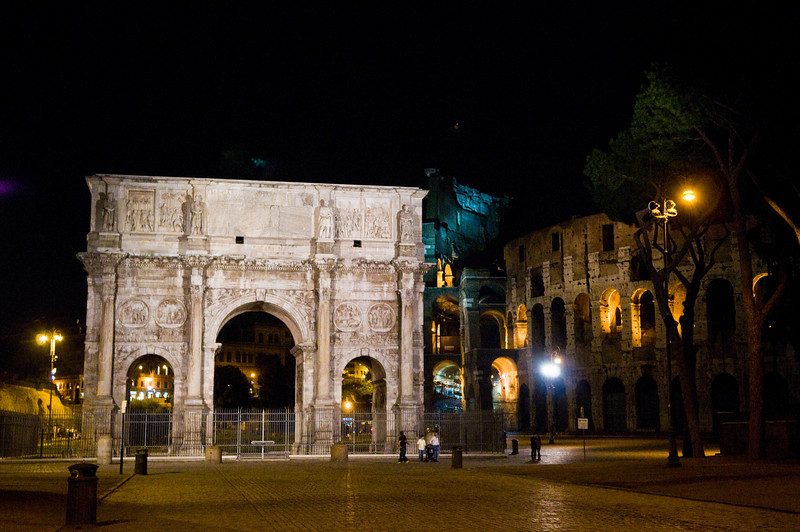 Title: Arch of Constantine to Scale<br /> Date: October 2011<br /> Rome