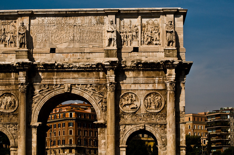 Title: Arch of Constantine<br /> Date: September 2011<br /> Rome