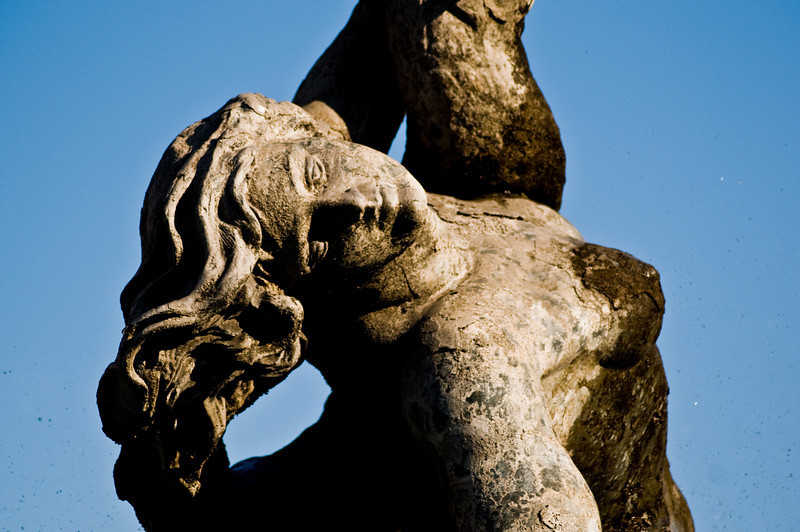 Title: Eyes for You<br /> Date: October 2011<br /> Statue on a fountain in Rome.