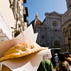 Title: Calzone in Florence<br /> Date: October 2011<br /> Florence