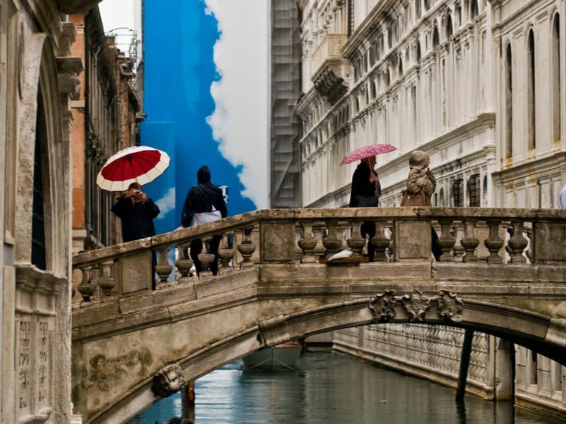 Title: Umbrellas on the Bridge<br /> Date: October 2011<br /> Venice