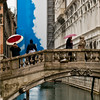 Title: Umbrellas on the Bridge<br /> Date: October 2011<br /> Venice