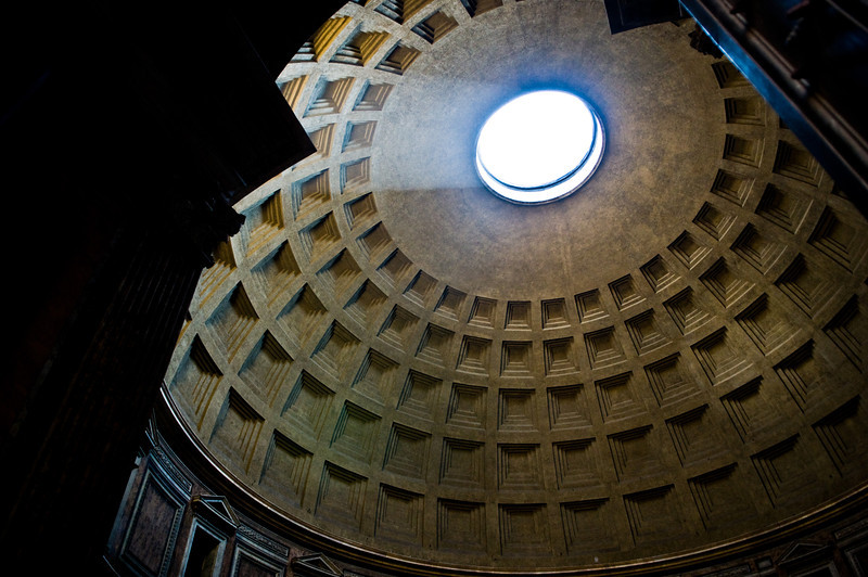 Title: Light of the Pantheon<br /> Date: October 2011<br /> Rome