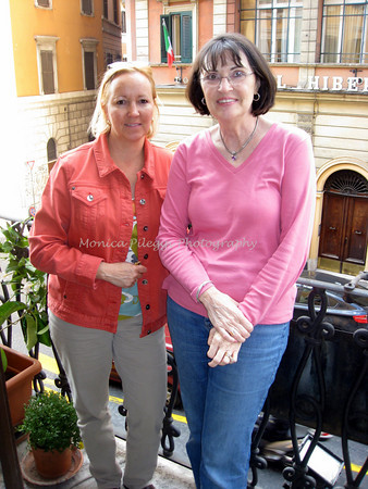 With Carolyn Z. At Hotel Giardino. On my tiny balcony.