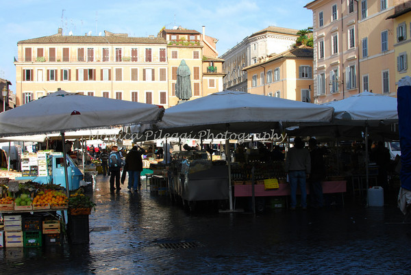 This and the next set of photos were taken in the Campo dei Fiori.