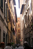 Narrow mediveal street in Florence