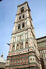 The bell tower at the Duomo in Florence designed  by Giotto.