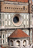 Detail of the base of the dome on the Duomo of Florence
