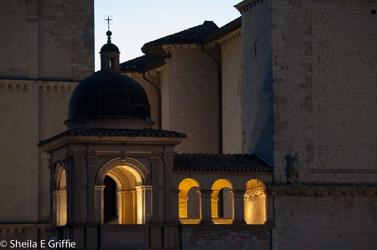 2012 Assisi, Italy - Basilica di San Francesco al tramonto