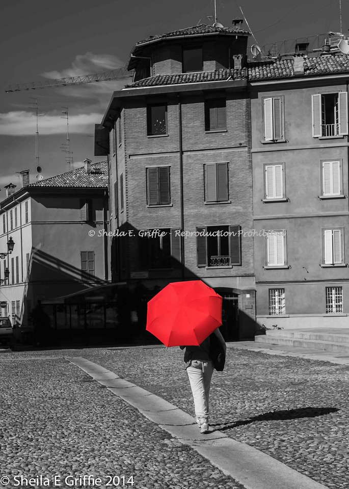 2014  The Red Umbrella, Parma, Italy