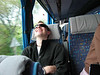 Can't catch Jason napping on bus ride from Rome to Florence