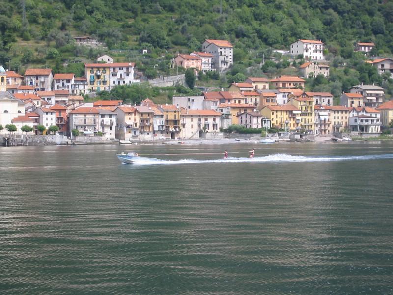 Waterskiers on Lake Como