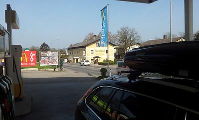 Oberegging, Austria. Tu nocowalismy po drodze