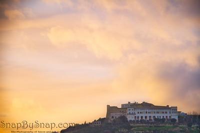 Evening Sky over Italian Castle