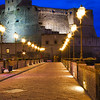 Evening at Castel Dell Ovo during the blue hour