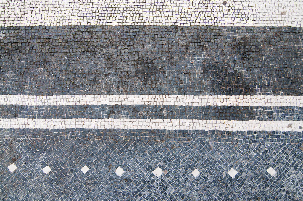 Black and white mosaic at Herculaneum