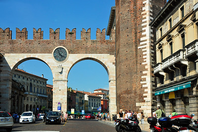 Arriving in Verona just in time for a performance of AIDA in the arena.