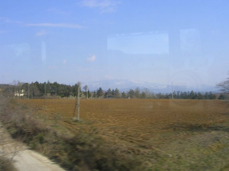 Random view of the Tuscan countryside from the train.