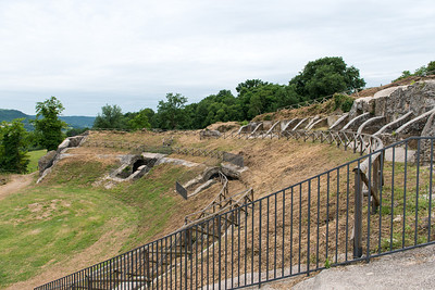 A Roman amphitheater in the ancient town of Otricoli.