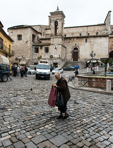 A busy central square in Narni.