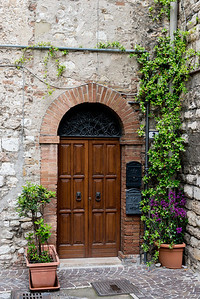 A lovely door to someone's home in Narni.