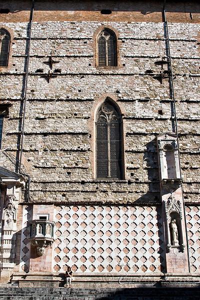 Cathedral of Saint Lorenzo facade facing Piazza IV Novembre