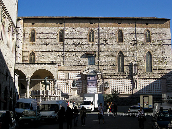 Cathedral of Saint Lorenzo facade facing Piazza IV Novembre