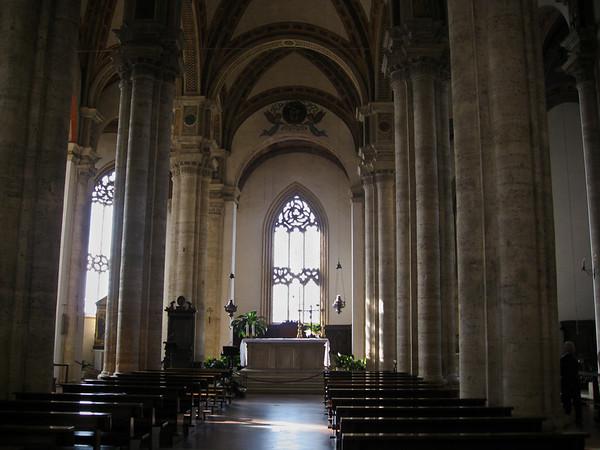 Interior of Pienza cathedral