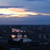 Sunset on the Arno River taken from Piazzale Michelangelo.