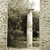 Ruins of Pompeii in Sepia