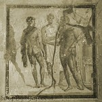 Pompeii Fresco in Sepia