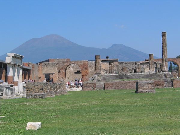 Ruins with Mt. Vesuvius in background