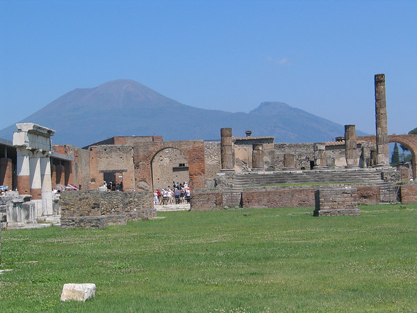 Ruins with Mt. Vesuvius in background