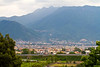 Naples, Italy, as seen from Pompeii