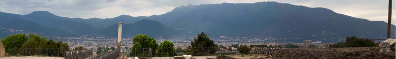 From the ruins of Pompeii overlooking the city of Naples.