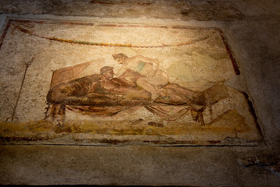 One of the wall paintings in the brothel.