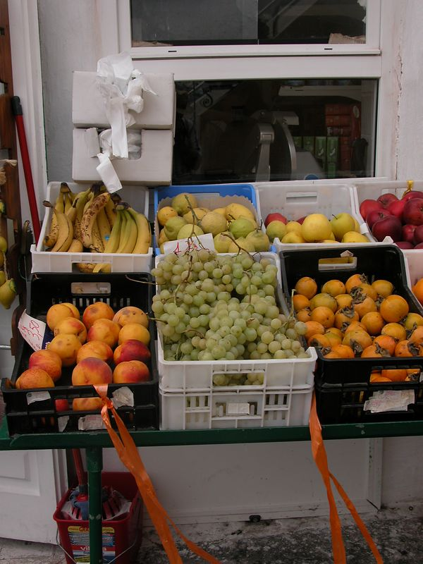 Ponza, Italy<br /> Fruit stand